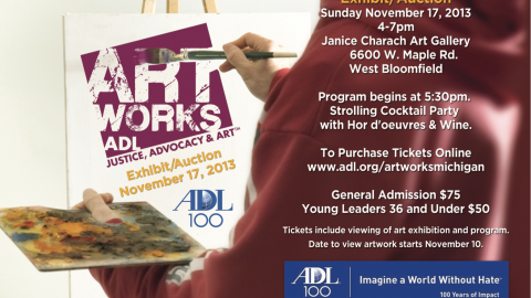 Purchase your tickets today for #ArtWorksADL http:www.adl.org/artworksmichigan