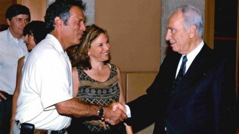 Judi and Brad Schram with Shimon Peres