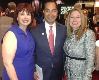 Carolyn Normandin, Julian Castro, Mayor of San Antonio and Heidi Budaj