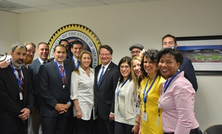 Sills Family/Glass Leadership Meets with Senator Peters